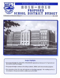 Caz 2015-16 Budget Newsletter page 1