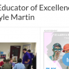 Kyle Martin Selected Educator of Excellence