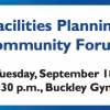 Facilities Planning Community Forum September 18th