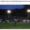 Two Night Football Games Planned
