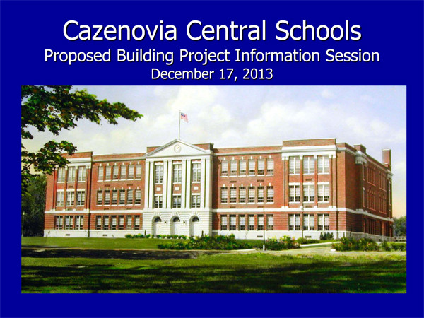 Cazenovia Central Schools 2002/03 Proposed Budget Hearing