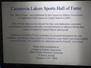 Hall of Fame Main Plaque