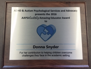 ADHD & Autism Psychological and Advocacy Plaque