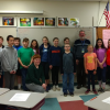 Mr. Pulfer visits with 7th Grade French Class