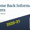 Welcome Back Information at the High School